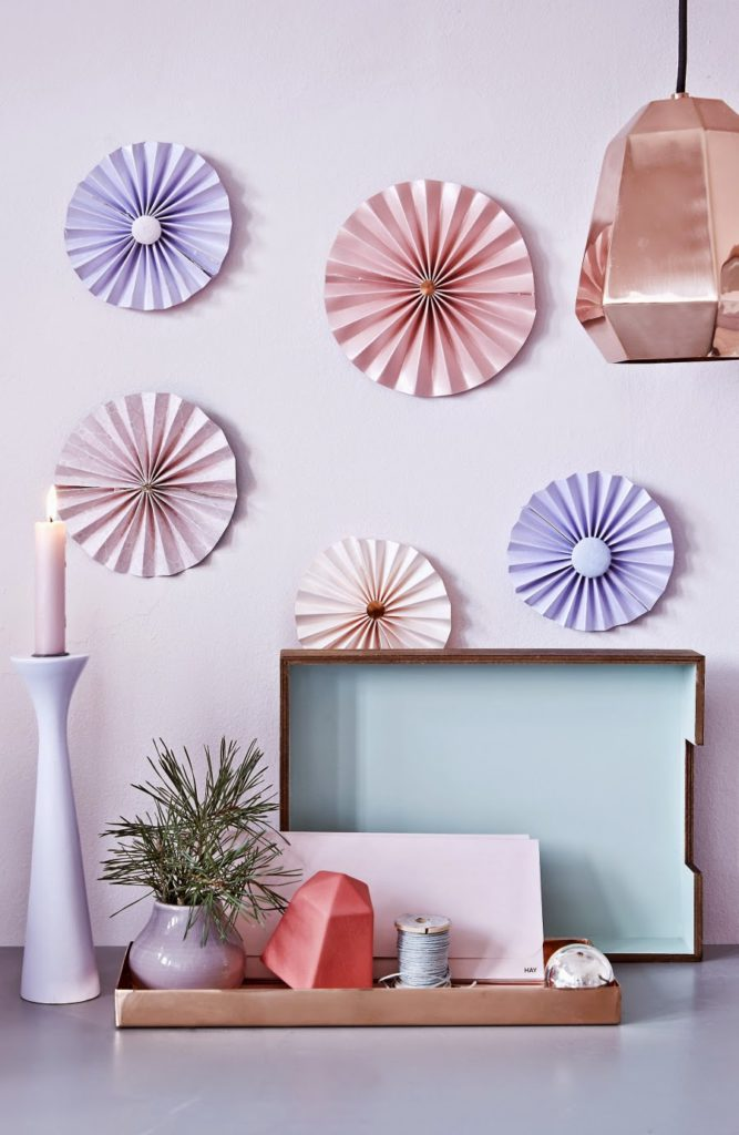 Rossetes de papel para decorar paredes mi silla azul - Papel para decorar ...